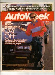 AutoWeek Car Magazine October 12 1987 Funny Car Bernstein Vintage
