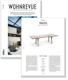 Spotlight on Tracks in the Swiss #design magazine Wohnrevue  *** Speciale su Tracks nella rivista svizzera Wohnrevue. Tracks design Alain Gilles for #bonaldo