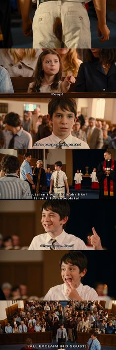 Diary of a Wimpy Kid 2: Rodrick Rules. I don't know why I find this part so funny. I'm not a twelve year old boy.