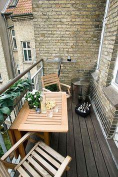 Soluciónes para balcones pequeños