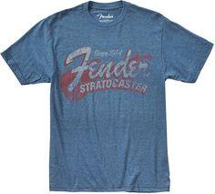 Since 1954 Strat T-Shirt, Blue, M | Fender Men's Clothing