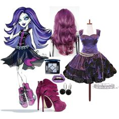 Monster High: Spectra by helsingmusique on Polyvore Casual Cosplay, Cosplay Outfits, Cosplay Costumes, Halloween Costumes, Disney Inspired Outfits, Disney Outfits, Girl Outfits, Cute Outfits, Monster High Birthday