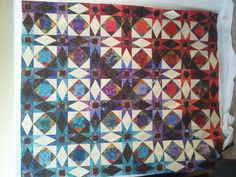 This is my latest quilt top, still debating how to quilt it!
