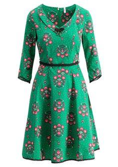 2b2bdc653bc1 Køb Blutsgeschwister grøn kjole med blomster. Fri fragt
