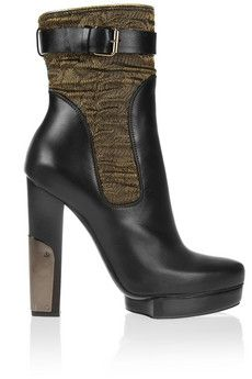 Lanvin Leather and Lurex boots | THE OUTNET/ my wish list