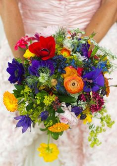 Colorful Wedding Bouquets from Real Weddings   Mine Forever