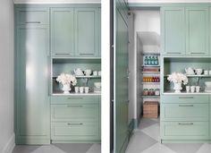 Pantry door using cabinetry