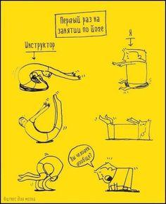 Pervoe Zanyatie Jogoj How To Do Yoga Yoga Funny Yoga For Beginners