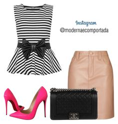 """""""saia"""" by gessilene-ferreira ❤ liked on Polyvore featuring WearAll, Topshop, Christian Louboutin and Chanel"""