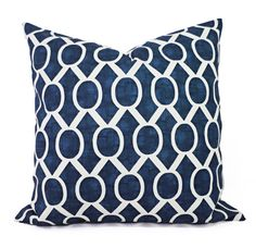 Navy Blue Decorative Pillow Covers! This listing is for a set of two navy throw pillow covers in a large geometric print. These couch pillow cushion covers fit a pillow insert sized between a 12 x 16 lumbar cover to a 26 x 26 euro sham and are 100% cotton. These fun patterns would be a great addition to your living room! The navy blue print has a lovely textured appearance that adds great visual interest.    *****This listing is for just the pillow covers, the inserts are not included…