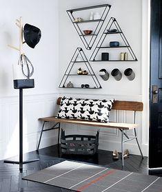 A study in the discipline of design, mixed media bench waxes schoolhouse nostalgic.