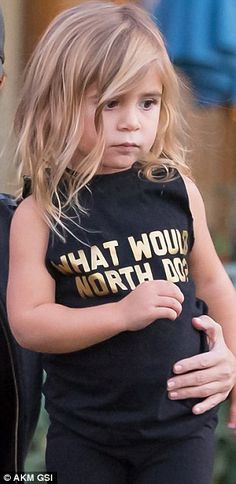 No 1 fan: The three-year-old showed her cousin and little BFF the love...