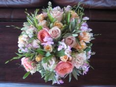 Pink & White Wedding Flowers