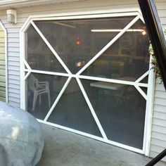 Garage door screen panels eze breeze do it yourself porch screen for garage door solutioingenieria Image collections
