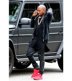 All black and red sneaks, right on.