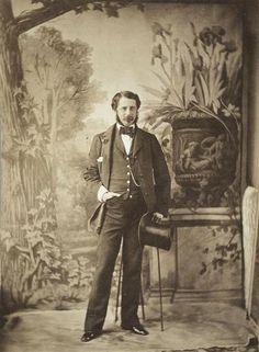 Portrait d'un dandy. ca. 1854. Comte Aguado Olympe.