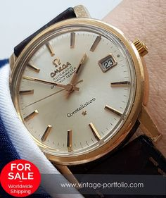 Pink gold plated 35mm Omega Constellation Automatic Vintage #constellation 	 #omegaconstellation #omegawatches
