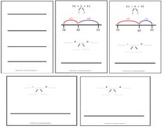 Miranda's lesmaterialen : wisbordjes - getallenlijnen oa. met voorbeeldsom