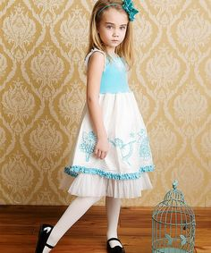 Look what I found on #zulily! Light Blue Nutcracker Silk Dress - Toddler #zulilyfinds