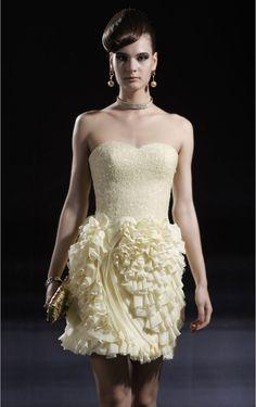 Vintage Column Chiffon Sleeveless Mini Strapless Party Dresses - Semi-Formal Dresses - Wedding Dresses