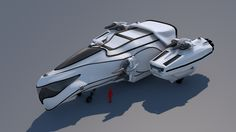 Hi guys, I'm working of my ship the IDEO CYLANCER, I am inspired by the Battlestar Galactica's Cylon raider and the Star Citizen's Freelancer.
