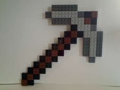 How to Build a LEGO Minecraft Pickaxe