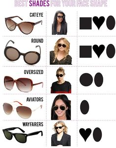 Sunglasses for your face shape! Runway Fashion, Fashion Tips, Girl Fashion,  Womens f0d76469c2