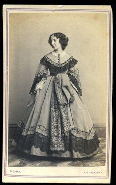 CDV Photo Lady High Fashions Great Dress by Glosser 827 Broadway   eBay