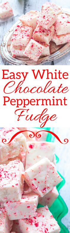 This Easy White Chocolate Peppermint Fudge is a great way to celebrate the holidays. It's such a tasty, festive treat for friends and family.
