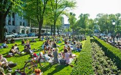 Picnic at the Park Esplanade, Helsinki Visit Helsinki, Outdoor Stage, Central Europe, Beautiful Buildings, Capital City, Travel Around The World, Summertime, Travel Destinations, Dolores Park