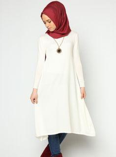 Knitted Tunic - Bone - Seyhan Fashion