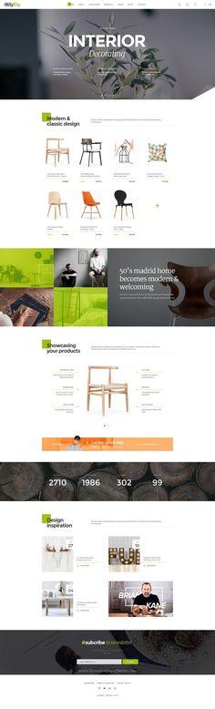 Ideas furniture design website home decor Website Design Inspiration, Web Design Inspiration, Mise En Page Web, Ecommerce Web Design, Ecommerce Template, Branding, Website Layout, Furniture Design, Mirror Furniture