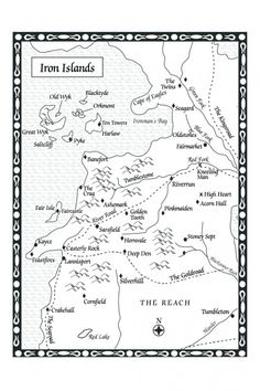 Game of Thrones: Iron Islands map