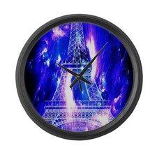 Amethyst Sapphire Paris Dreams Large Wall Clock