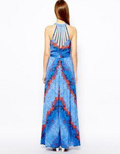 Image 2 ofWarehouse Lava Print Maxi Dress