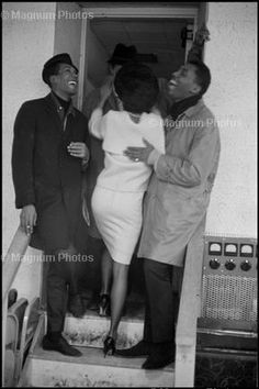 Eddie and Otis, with Diana Ross. Detroit, Michigan, 1965
