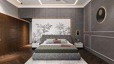 MASTER BEDROOM on Behance Indian Bedroom Design, Luxury Bedroom Design, Modern Home Interior Design, Bedroom Closet Design, Zen Master Bedroom, Master Bedroom Interior, Modern Bedroom, Royal Bedroom, Bedroom Decor