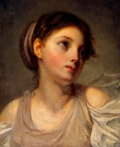 Jean Baptiste Greuze Young Girl in a Lilac Tunic hand painted oil painting reproduction on canvas by artist Portraits, Portrait Art, Johann Wolfgang Von Goethe, Hermitage Museum, Jean Baptiste, Amazing Paintings, Oil Painting Reproductions, Old Art, Renoir