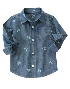 $14.98 Bicycle Chambray Shirt at Gymboree