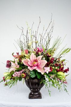 Items similar to Pink Traditional Silk Floral Arrangement on Etsy 2019 Items similar to Pink Traditional Silk Floral Arrangement on Etsy The post Items similar to Pink Traditional Silk Floral Arrangement on Etsy 2019 appeared first on Floral Decor. Spring Flower Arrangements, Artificial Floral Arrangements, Vase Arrangements, Beautiful Flower Arrangements, Floral Centerpieces, Flower Vases, Artificial Flowers, Beautiful Flowers, Wedding Centerpieces
