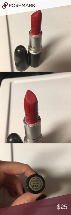 RiRi woo lipstick from Rihanna collection! Swatched LE MAC lipstick from Rihanna collection. Open to offers & bundles Makeup Lipstick