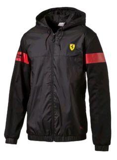 Racing-Formula 1 2876: Puma Scuderia Ferrari Lightweight Jacket Windbreaker Black Size M, L, Xl -> BUY IT NOW ONLY: $85 on eBay!