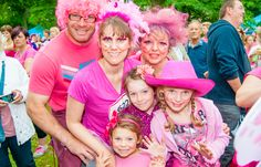 Pink outfits for Race for Life 2013. [Photography by Kayleigh Poacher]