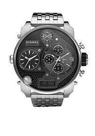 Diesel Men's Multi-Movement Stainless Steel Bracelet Black Chronograph Watch