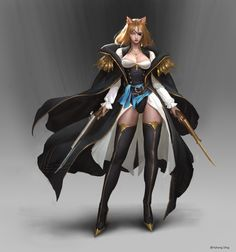 ArtStation - Force Space: Return to Suv character Art, Yuhong Ding Dungeons And Dragons Characters, Fantasy Characters, Female Characters, Anime Characters, Fantasy Female Warrior, Fantasy Team, Fantasy Art, Character Concept, Character Art