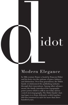 Didot, probably my favourite typeface.