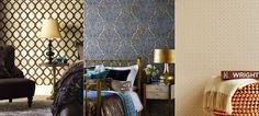 Papel de parede para quarto de casal #decor #decoração #quarto #quartodecasal #quartos #casa #papeldeparede #walldecor #home #casa #abajur #room #azul #textura