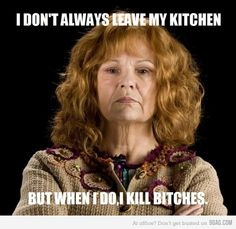 <3 Mrs. Weasley was pretty much my hero in the final Harry Potter movie.