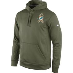 072e1c1b2 Men s Miami Dolphins Nike Olive Salute To Service KO Hoodie Nfl Jerseys