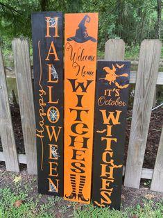 Halloween Front Door Decorations, Halloween Yard Art, Halloween Signs, Halloween Party Decor, Diy Halloween Decorations, Scary Halloween, Halloween Office, Outdoor Decorations, Holiday Decorations